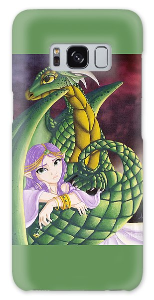 Elf Girl And Dragon Galaxy Case