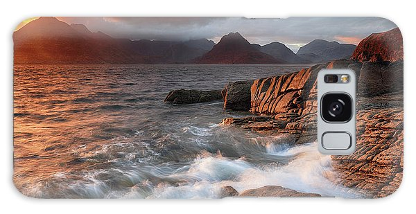 Galaxy Case featuring the photograph Elgol Stormy Sunset by Grant Glendinning