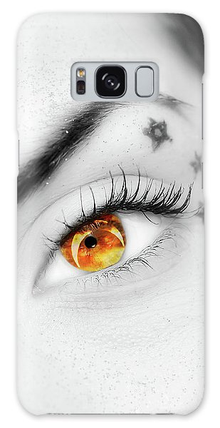Eclipse And Lashes Galaxy Case