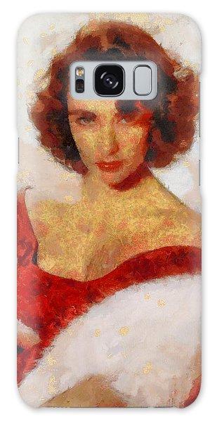 Elizabeth Taylor Actress Galaxy Case by Esoterica Art Agency
