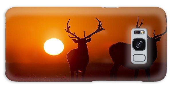 Elk And Sunrise Galaxy Case