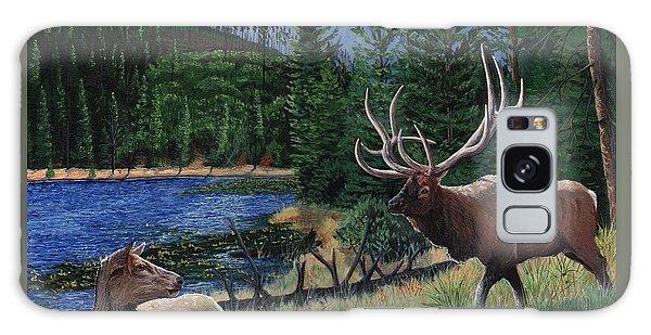 Elk At Beaver Lake  Yellowstone Galaxy Case