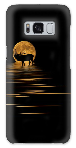 Elk In The Moonlight Galaxy Case