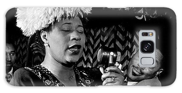 Ella Fitzgerald Dizzy Gillespie And Ray Brown William Gottlieb Photo Nyc 1947-2015 Galaxy Case by David Lee Guss