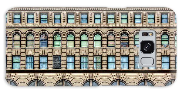 Galaxy Case featuring the photograph Ellicott Square Building Buffalo Ny Ink Sketch Effect by Rose Santuci-Sofranko