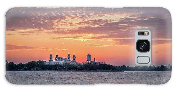 Ellis Island At Sunset Galaxy Case