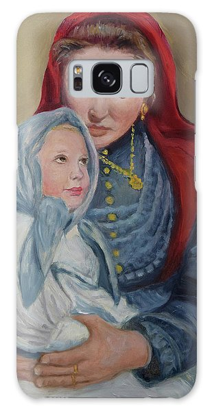 Ellis Island Madonna Galaxy Case