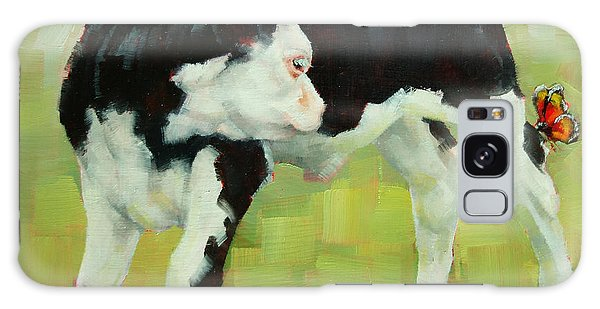 Elly The Calf And Friend Galaxy Case by Margaret Stockdale