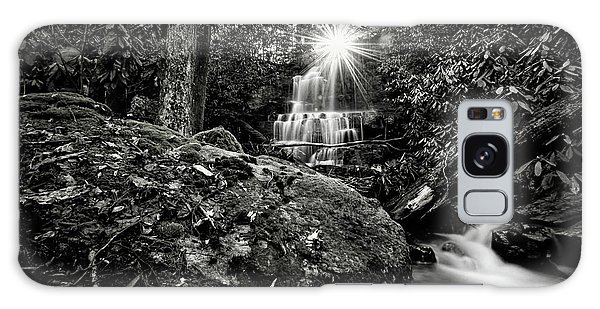Elora Falls In Black And White Galaxy Case