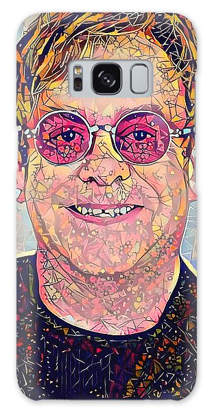 Elton John Triangles Portrait Galaxy Case