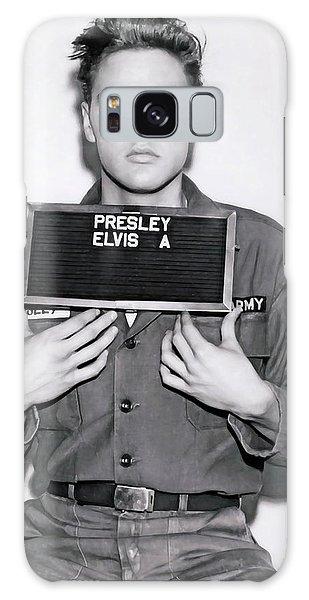 Sixties Galaxy Case - Elvis Army Mugshot 1960 by Daniel Hagerman