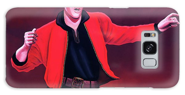 B B King Galaxy Case - Elvis Presley 4 Painting by Paul Meijering