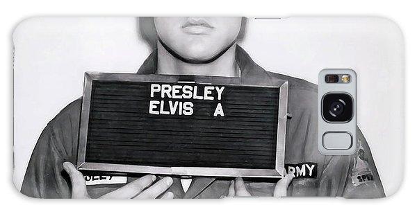 Sixties Galaxy Case -  Elvis Presley Army Mugshot 1960 by Daniel Hagerman