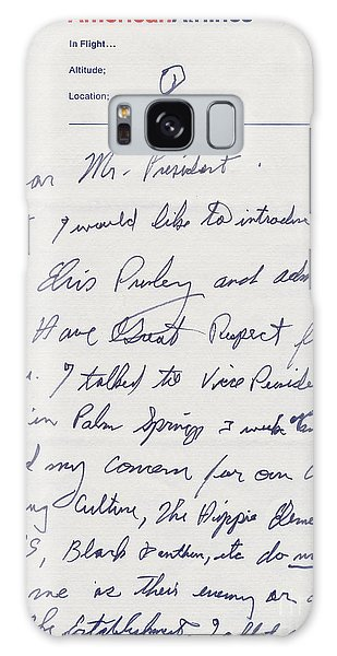Elvis Presley Letter To President Richard Nixon Galaxy Case