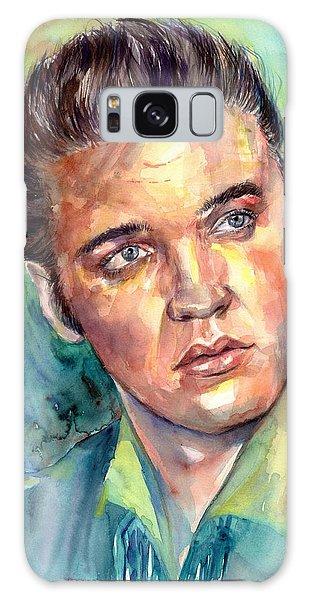 Elvis Presley Galaxy Case - Elvis Presley Portrait by Suzann's Art