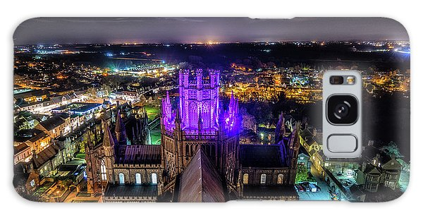 Galaxy Case featuring the photograph Ely Cathedral In Purple by James Billings