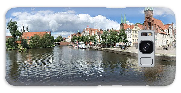 Embankment Of Trave In Luebeck Galaxy Case