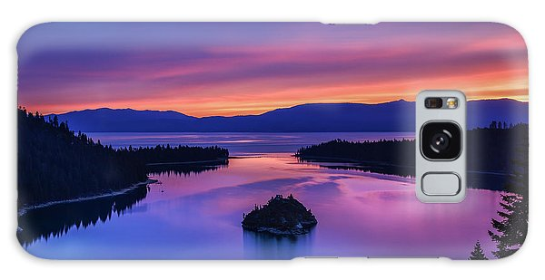 Emerald Bay Clouds At Sunrise Galaxy Case