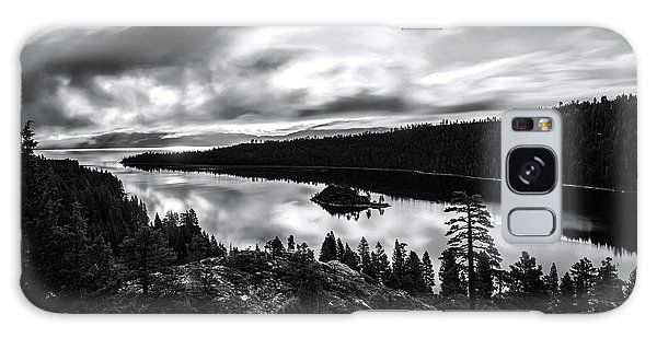 Emerald Bay Rays Black And White By Brad Scott Galaxy Case