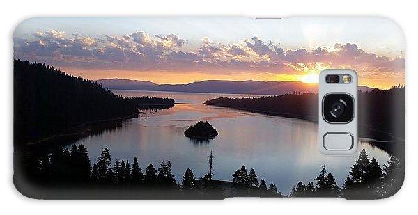 Emerald Bay Sunrise Galaxy Case by Carol Duarte