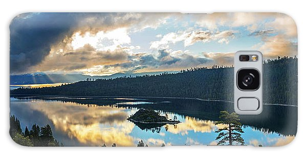 Emerald Bay Sunrise Rays Galaxy Case