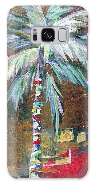 Emerald Fire Palm  Galaxy Case