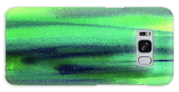 Galaxy Case - Emerald Flow Abstract Painting by Irina Sztukowski