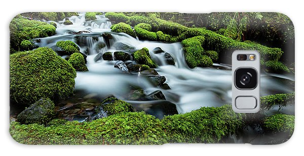 Olympic National Park Galaxy Case - Emerald Flow by Edgars Erglis