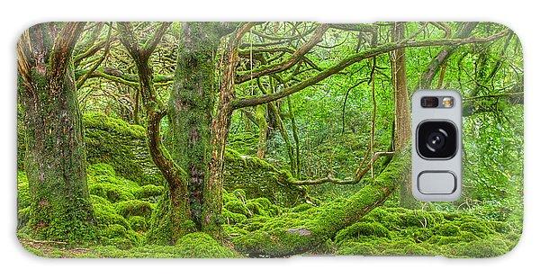 Emerald Forest Galaxy Case by Nicolas Raymond