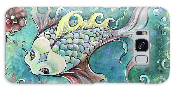 Symbolism Galaxy Case - Emerald Koi by Shadia Derbyshire