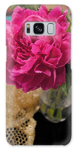 Galaxy Case featuring the photograph Emily's Peonies  by Kate Word
