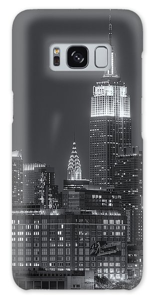 Landmark Galaxy Case - Empire State And Chrysler Buildings At Twilight II by Clarence Holmes