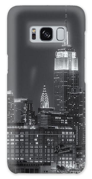 Empire State And Chrysler Buildings At Twilight II Galaxy Case