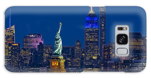 Empire State And Statue Of Liberty II Galaxy Case