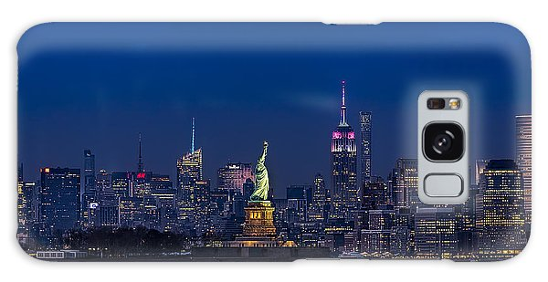 Empire State And Statue Of Liberty Galaxy Case