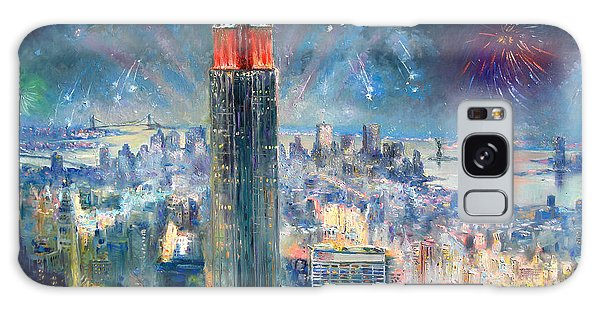 Empire State Building In 4th Of July Galaxy Case by Ylli Haruni