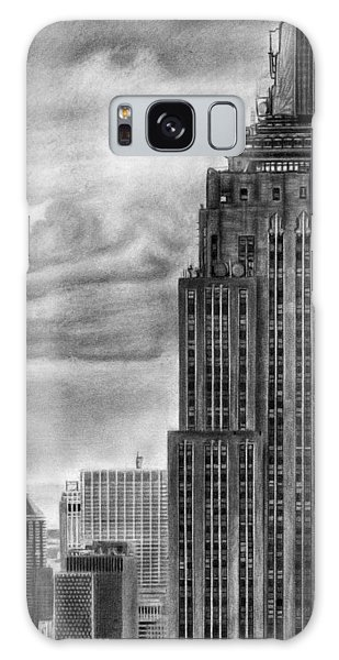 Empire State Building New York Pencil Drawing Galaxy Case