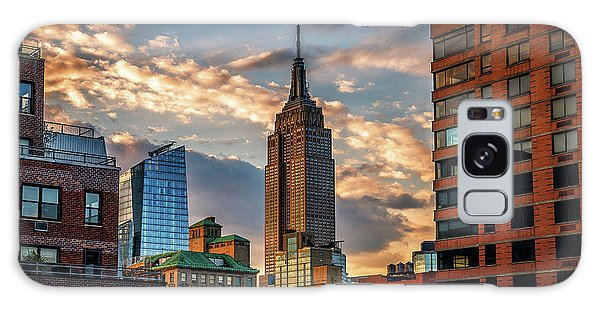 Empire State Building Sunset Rooftop Galaxy Case