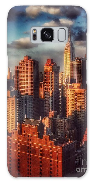 Empire State In Gold Galaxy Case by Miriam Danar