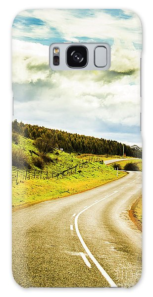 Countryside Galaxy Case - Empty Asphalt Road In Countryside by Jorgo Photography - Wall Art Gallery