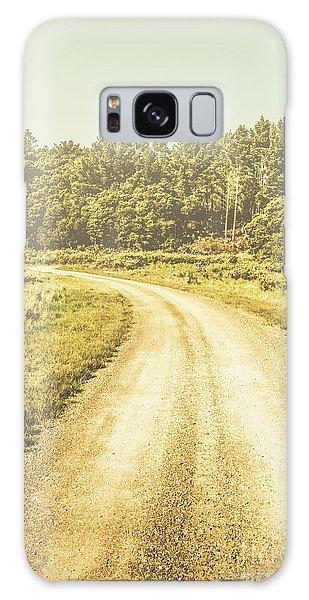 Foliage Galaxy Case - Empty Curved Gravel Road In Tasmania, Australia by Jorgo Photography - Wall Art Gallery