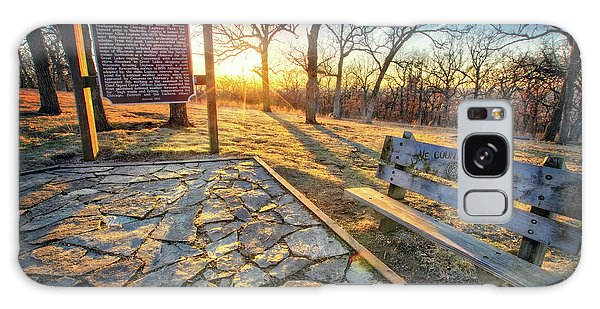 Empty Park Bench - Sunset At Lapham Peak Galaxy Case by Jennifer Rondinelli Reilly - Fine Art Photography