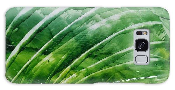 Encaustic Abstract Green Fan Foliage Galaxy Case