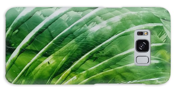 Encaustic Abstract Green Fan Foliage Galaxy Case