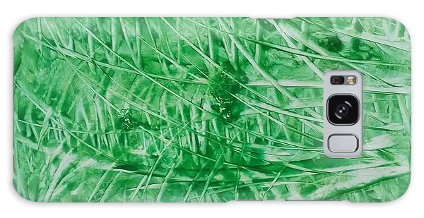 Encaustic Abstract Green Foliage Galaxy Case