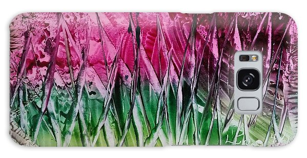 Encaustic Abstract Pinks Greens Galaxy Case