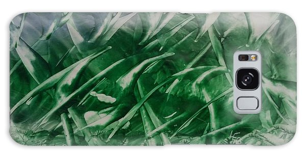 Encaustic Green Foliage With Some Blue Galaxy Case