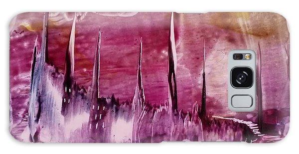 Encaustic Purple-pink Abstract Castles Galaxy Case