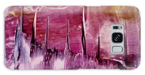 Encaustic Purple-pink Abstract Castles Galaxy Case