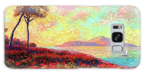 Tranquil Galaxy Case - Enchanted By Poppies by Jane Small